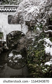 Snow in Shanghai. China