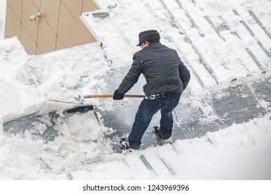 snow shoveling winter