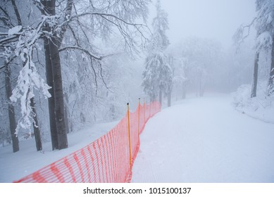 Snow ski track for professional race