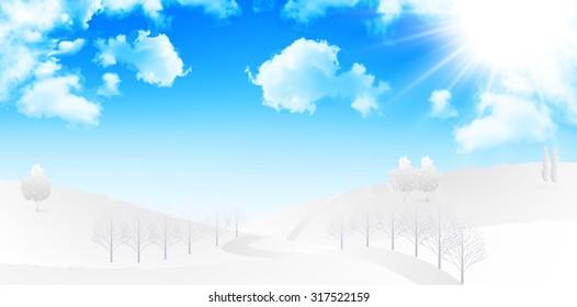 Snow sky background