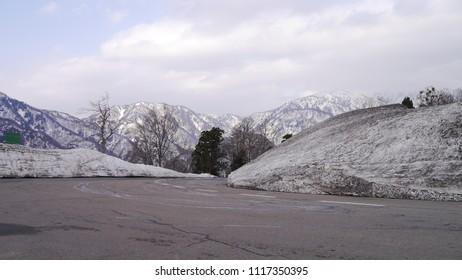 Snow in spring season, Alpine Route Japan