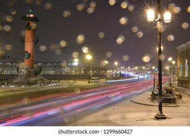 Snow strava on the spit of Vasilievsky, Saint Petersburg - Shutterstock ID 1299660427