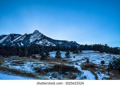 Snow Sunset in Colorado