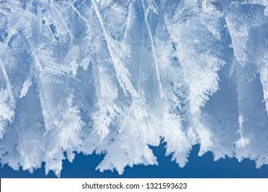 snow texture close up