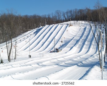 snow tube valley