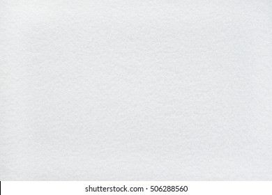 Snow white felt background with frost-liked texture