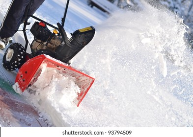 snowblower in winter