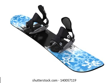Snowboard isolated on white. Clipping paths
