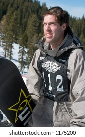 Snowboarder Chris Nelson competing at 2005 Vans Tahoe Cup