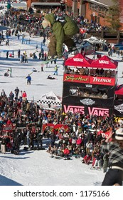 Snowboarder Danny Kass competing at 2005 Vans Tahoe Cup