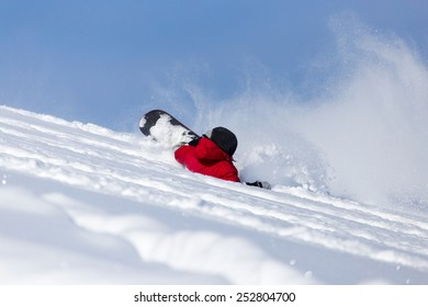 snowboarder falls to rate