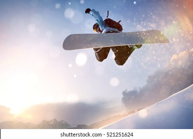 Snowboarder in Flight