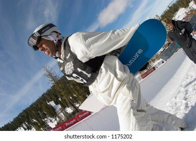 Snowboarder Keir Dillon competing at 2005 Vans Tahoe Cup