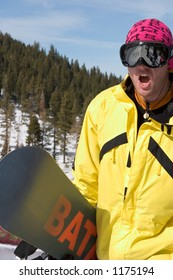 Snowboarder Kim Christiansen competing at 2005 Vans Tahoe Cup