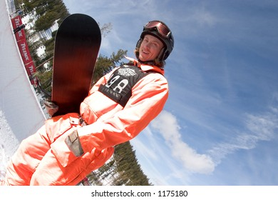 Snowboarder Rob Kingwill competing at 2005 Vans Tahoe Cup