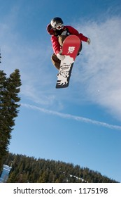 Snowboarder Scotty Lago competing at 2005 Vans Tahoe Cup