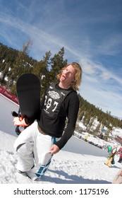 Snowboarder Xaver Hoffman competing at 2005 Vans Tahoe Cup