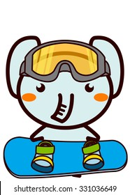 Snowboarding Animal Series