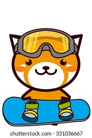 Snowboarding Animal Series