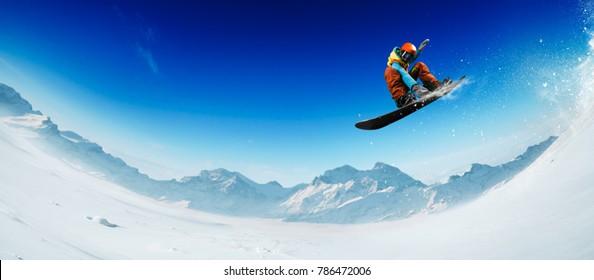 Snowboarding sport photo