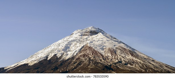 The snowcapped Cotopaxi Volcano in Ecuador. One of the world's highest active volcanoes at 5,897m.