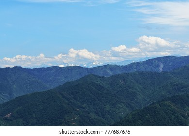 Snow-capped hills of Kackar Mountains in Rize, Turkey