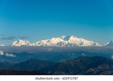 Snowcapped Kanchenjunga range viewed from  Singalila National Park, Tonglu Trekkers' Hut
