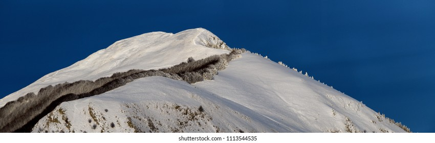 snow-capped mountains of the Italian Apennines