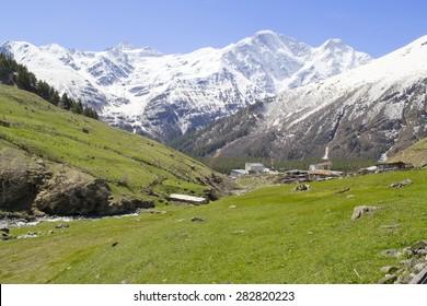 snow-capped mountains, landscape glacier Seven