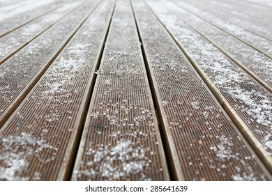 snow-covered board in the mountains