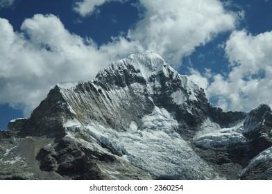Snowcovered high mountain Cordilleras