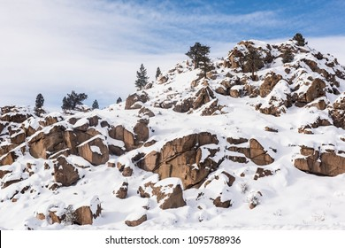 Snow-covered hills in Inyo County, California