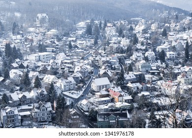 Snow-covered streets of Wernigerode