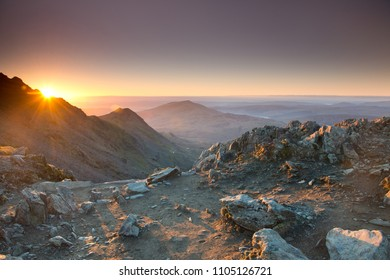 Snowdonia National Park at sunrise  ,Wales