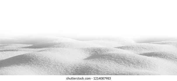 Snowdrift isolated on white background for design