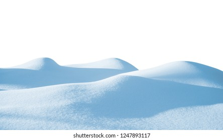 Snowdrift isolated on white background for design.