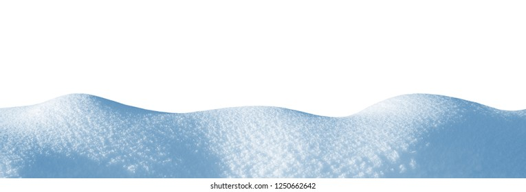Snowdrift isolated on white background for design. Snow on white background