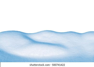 Snowdrift isolated on white background.