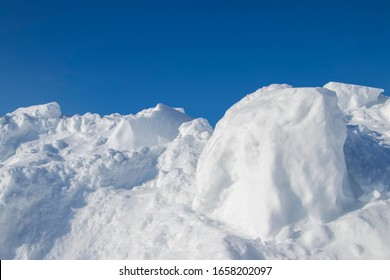 Snowdrift. Snow drift. Applied wind a large pile of snow during blizzards and snow falls.