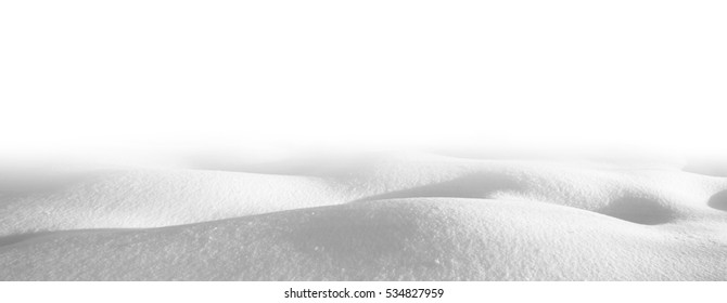 Snowdrifts isolated on white background in shades of gray