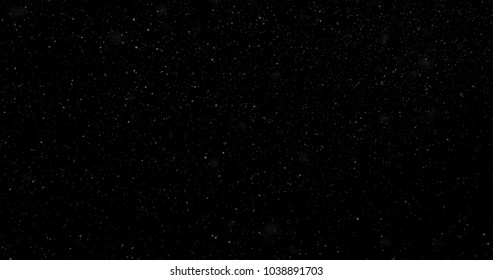 Snowfall on a black background. 3D rendering