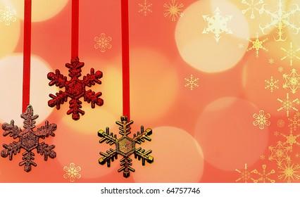 Snowflake Holiday Bokeh Background