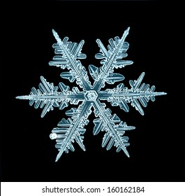 snowflake isolated natural crystal