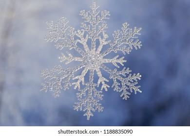 snowflake on a white-blue background