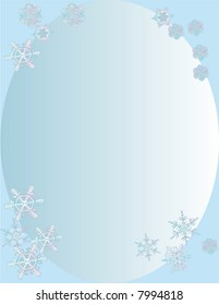 Snowflakes with blue background.