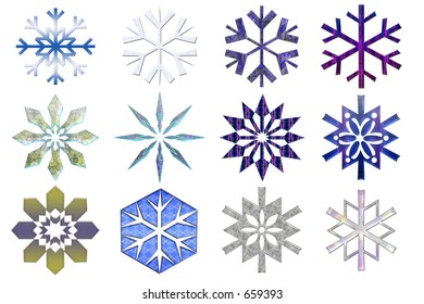Snowflakes collection #2. Isolated
