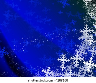 Snowflakes on a christmas background
