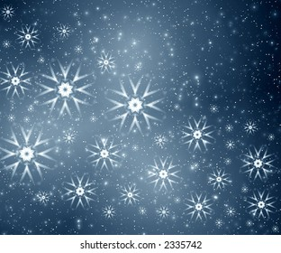 Snowflakes on grey background