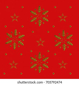 Snowflakes and Stars in Christmas Background