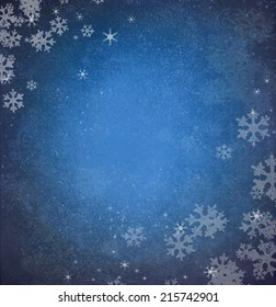 Snowflakes . Winter blue snow background, substrate.decoupage